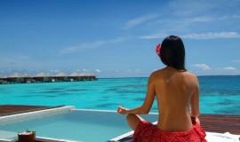 Maldivler'de Yoga