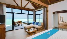 Su üzeri Okyanus Villa Havuzlu Gündoğumu