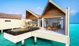 Su üzeri Lagün Villa Havuzlu Gündoğumu